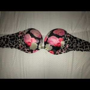 Victoria's Secret Pink, strapless bra, 34B